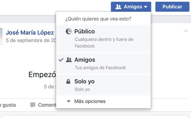 Facebook Publicar