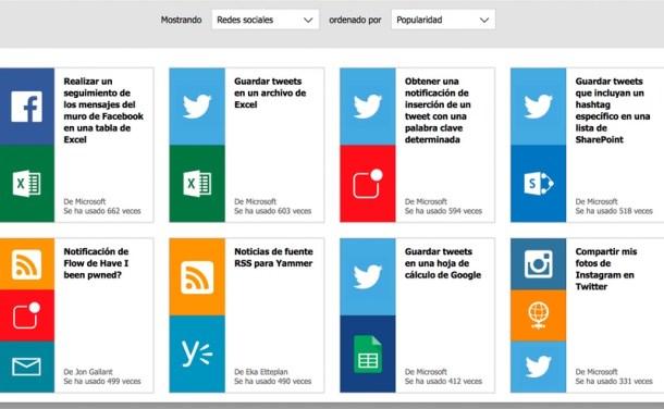 Microsoft Flow Redes Sociales