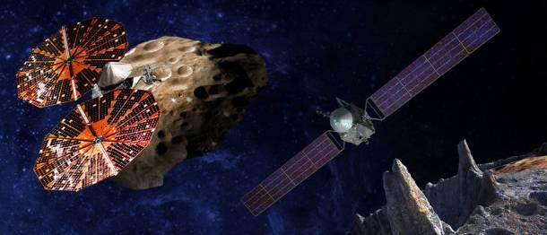 Lucy sobrevolando el asteroide troyano Eurybates