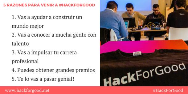 5 razones para venir a hackforgood