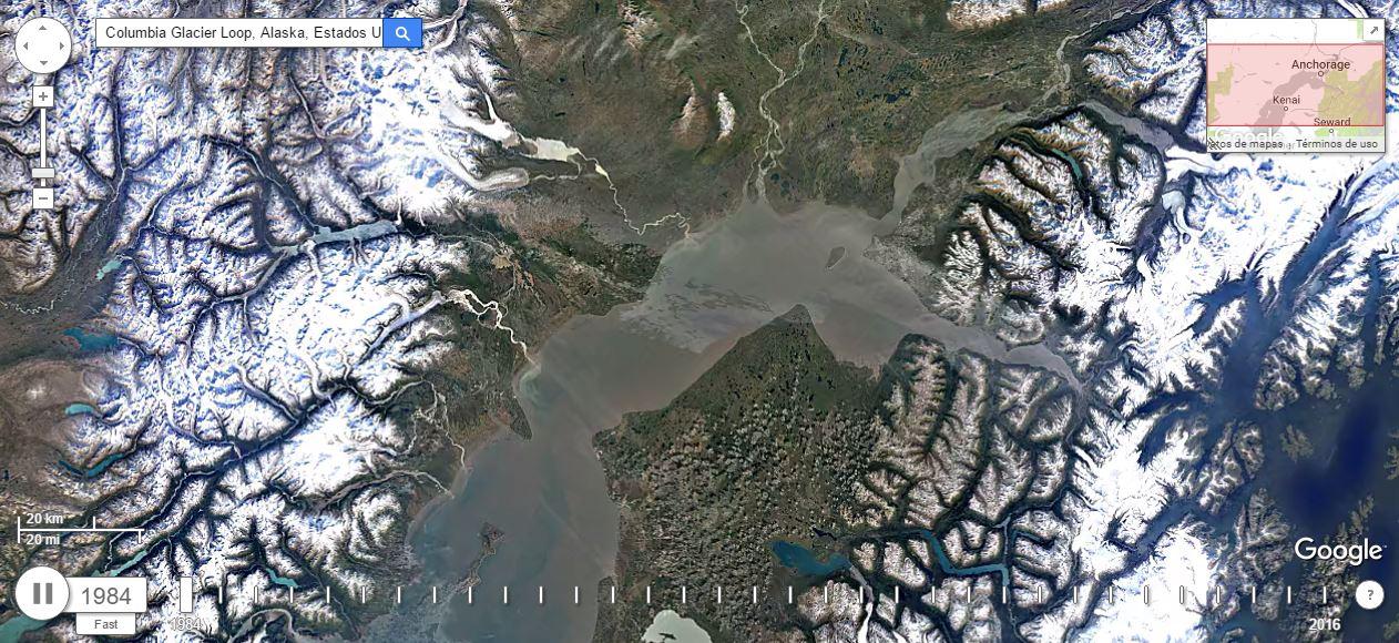 Viaje a la evolución de la Tierra con Google Earth