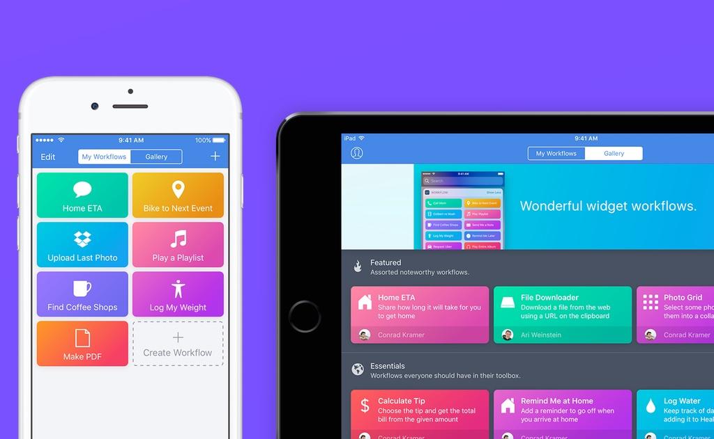 Workflow automatiza cualquier tarea en tu iPhone y iPad