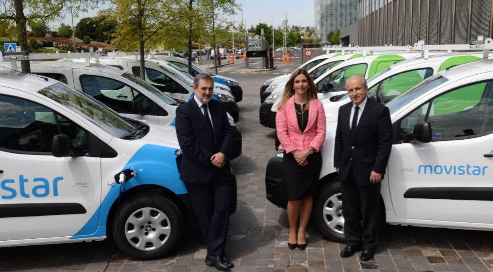 Telefónica incorpora diez vehículos eléctricos de Peugeot a su flota profesional de operaciones y red