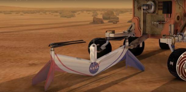 Drones en el cielo de Marte