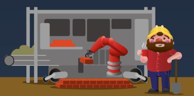 SAM, el robot que, a pesar de colocar 3.000 ladrillos al día, necesita la ayuda del hombre