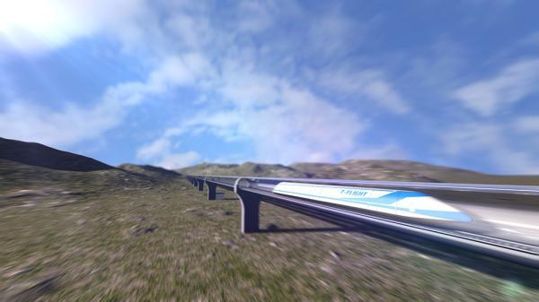 """Así es el """"tren volador"""" chino que quiere competir contra Hyperloop"""