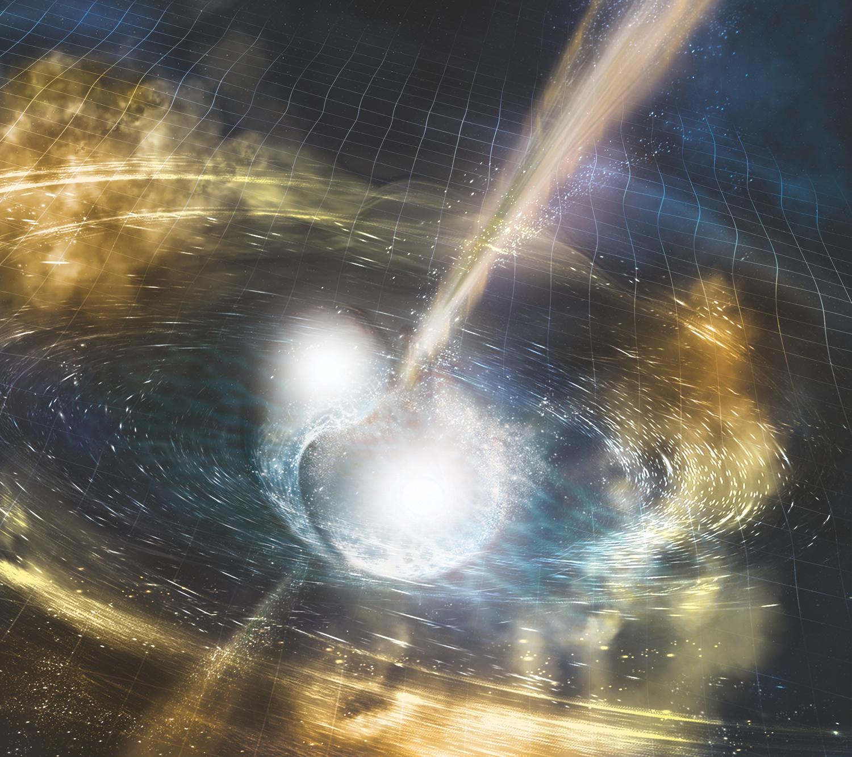 El insólito regalo de dos estrellas muertas hace 10.000 millones de años