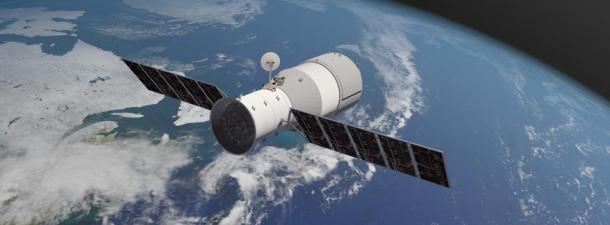 La caída de la estación espacial Tiangong-1 sobre el Pacífico sur