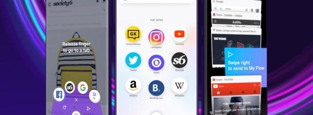 Opera Touch, el navegador móvil que se usa con una mano