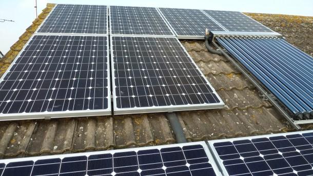 paneles solares en los tejados