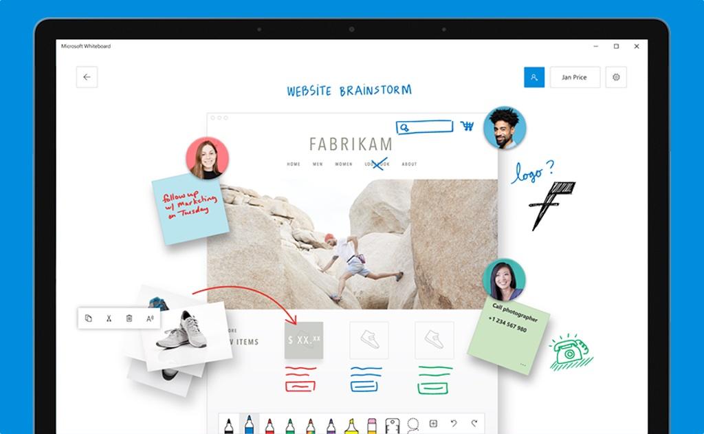 Whiteboard, la pizarra online de Microsoft