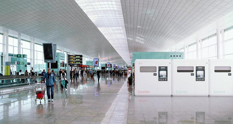 Napbox siesta descanso aeropuerto
