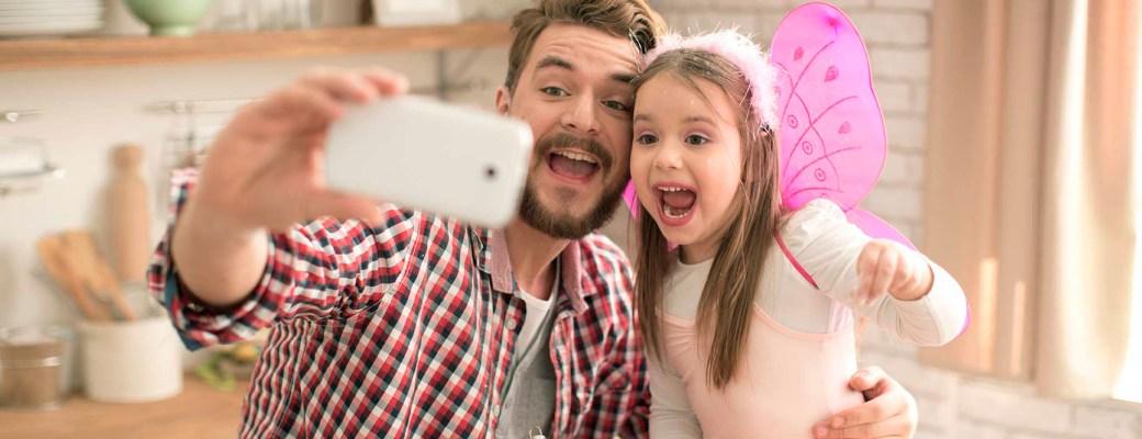 fotos hijos huella digital padre