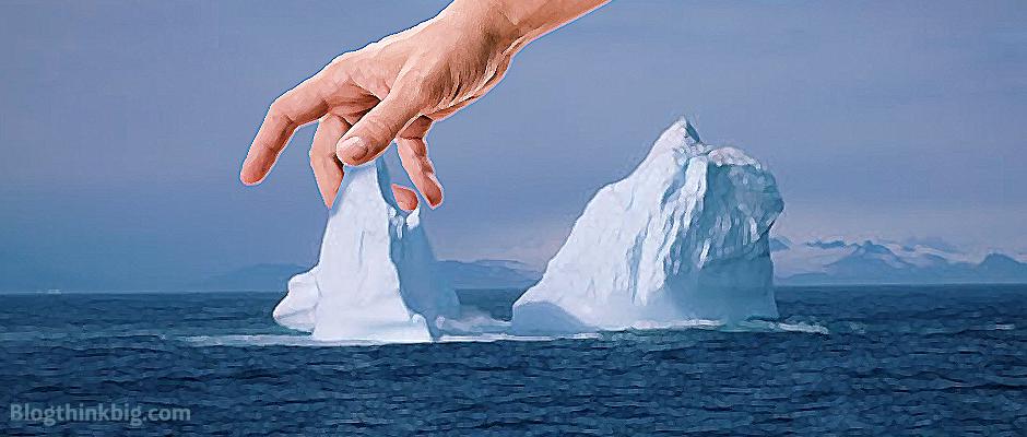 glaciar agua hielo