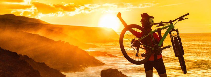 Mujer en bicicleta csd