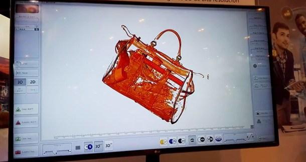 aeropuerto maletas seguridad escaner capas 3d