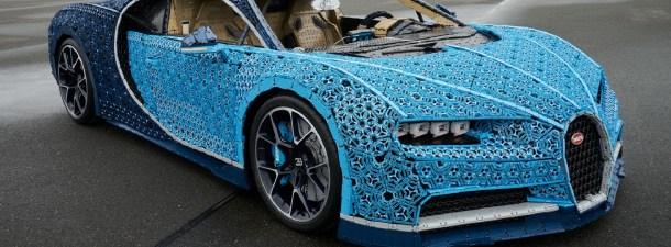 Este Bugatti construido con piezas de Lego rueda a 30 km/h