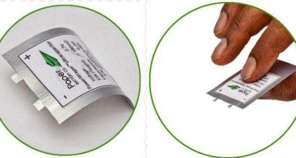 baterías papel
