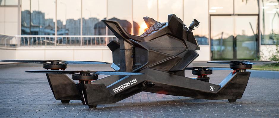 Así es Hoverbike, la moto voladora que ya está probando la policía de Dubái