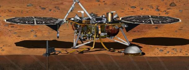 La sonda InSight de la NASA está atrapada en la superficie de Marte