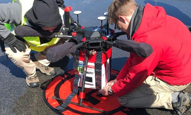 Drones para transportar órganos