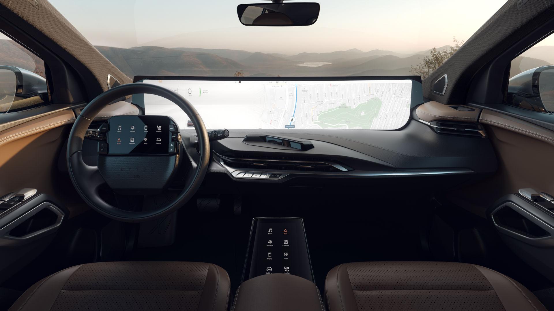 Byton M-Byte: el coche que tendrá una pantalla de 48 pulgadas