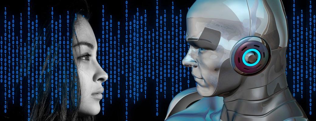 inteligencia artificial maquina mujer hombre humano robot