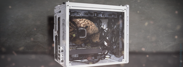Una máquina atómica como cerebro