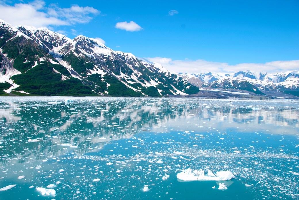 Glaciares Deshielo Alaska Cambio Climático Calentamiento Global
