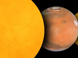Eclipse Marte Curiosity Phobos Deimos