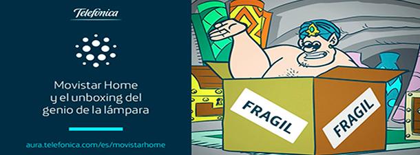 El Genio de la Lámpara te enseña lo que te llega a casa al comprar un Movistar Home
