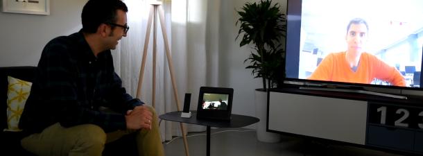 Cómo enviar las videollamadas a la televisión con Movistar Home
