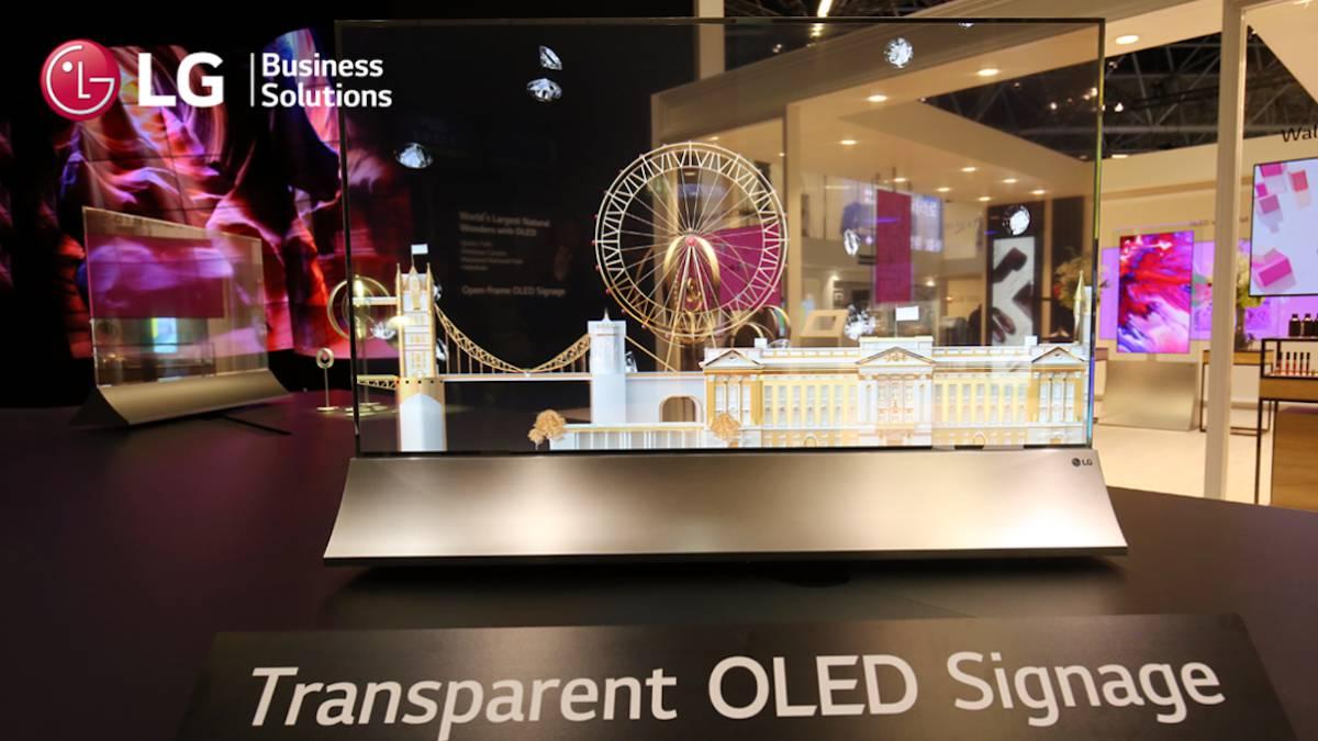 LG presenta T-OLED, un televisor con un 38% de transparencia