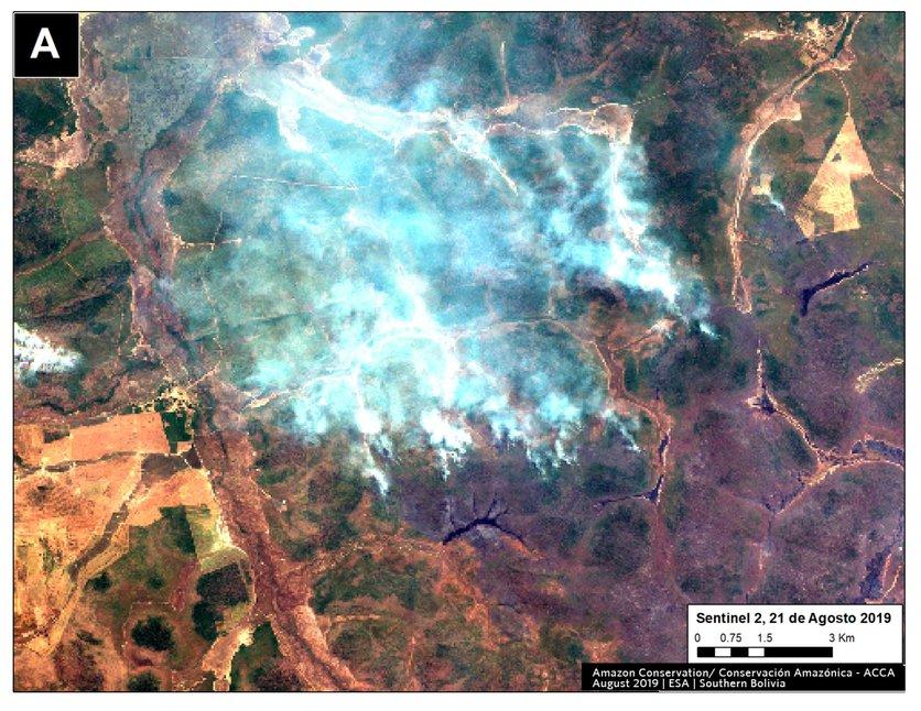 La NASA muestra la gran nube de monóxido de carbono sobre el Amazonas