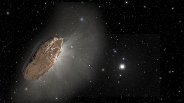 Oumuamua J. OLMSTED Y F. SUMMERS, NASA, ESA