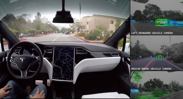 Teslas en Autopilot