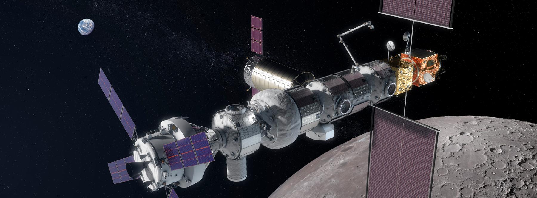 """Así será la nueva estación espacial Gateway, la """"parada de autobús"""" hacia la Luna"""