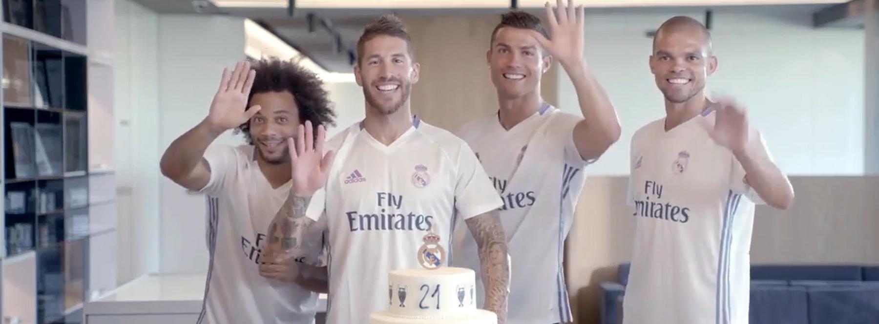 El Real Madrid, Mahou y Santalucía envían vídeos personalizados a sus clientes