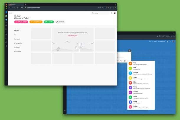 Crear páginas online con Padlet