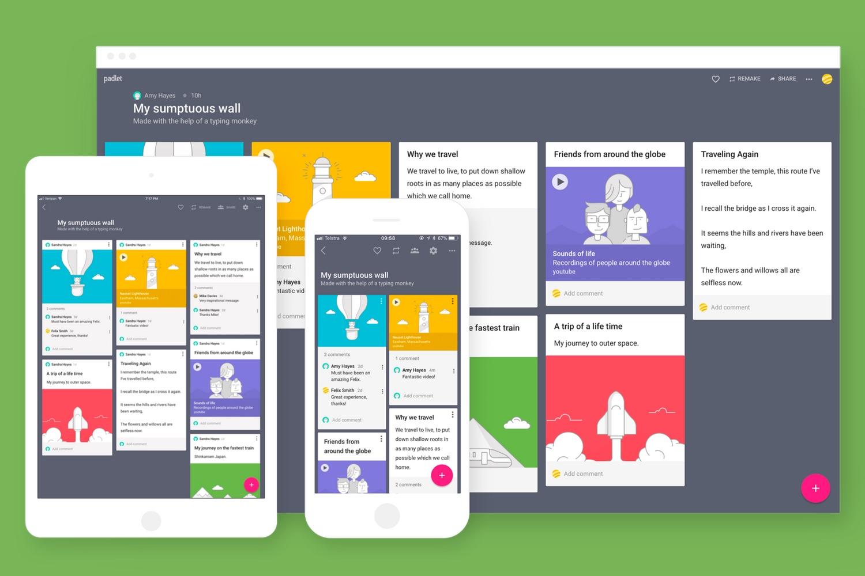 Padlet, un aliado para crear en equipo documentos y páginas online