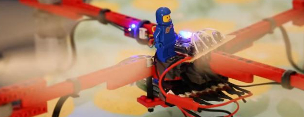 primer dron funcional hecho con Lego