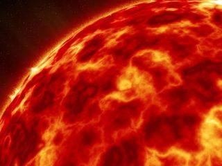 Superficie del sol, sistema solar