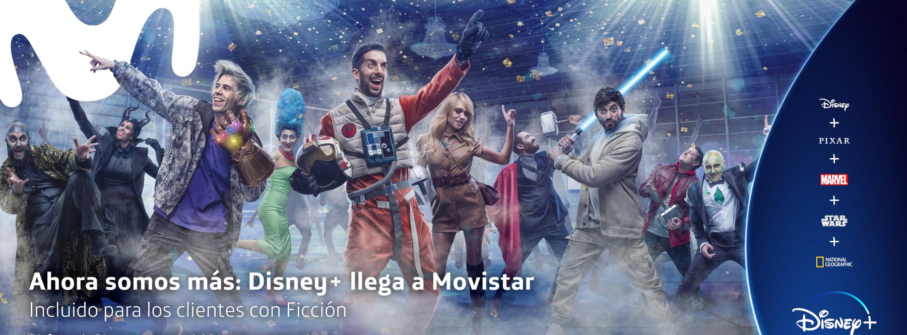 Ahora somos más: Disney+ llega a Movistar