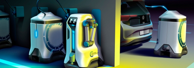Robots que cargan tu coche eléctrico por ti