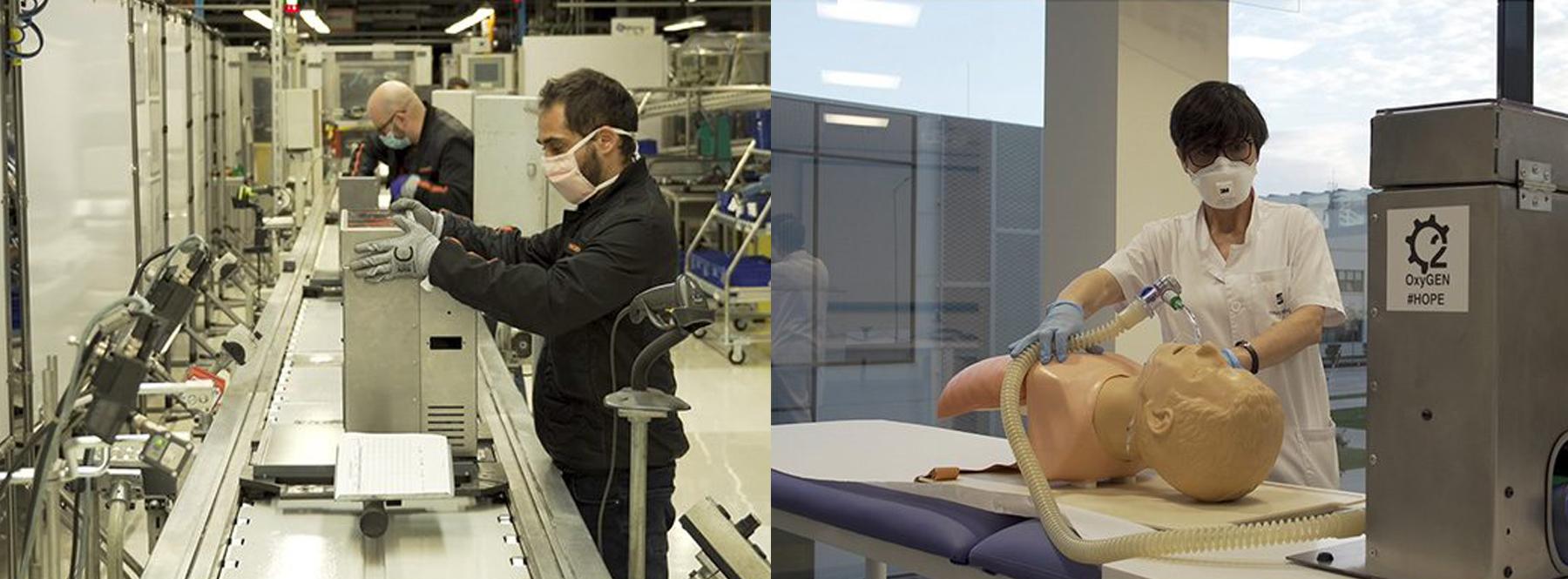 La automoción en España ahora fabrica respiradores y mascarillas por el coronavirus