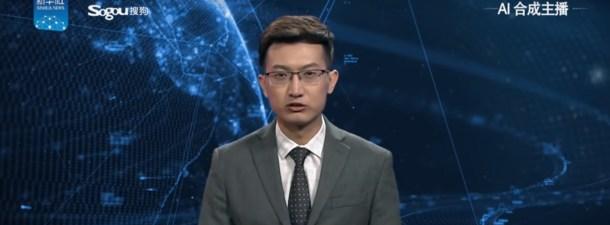 Un robot con aspecto y voz humanos presenta noticias en China