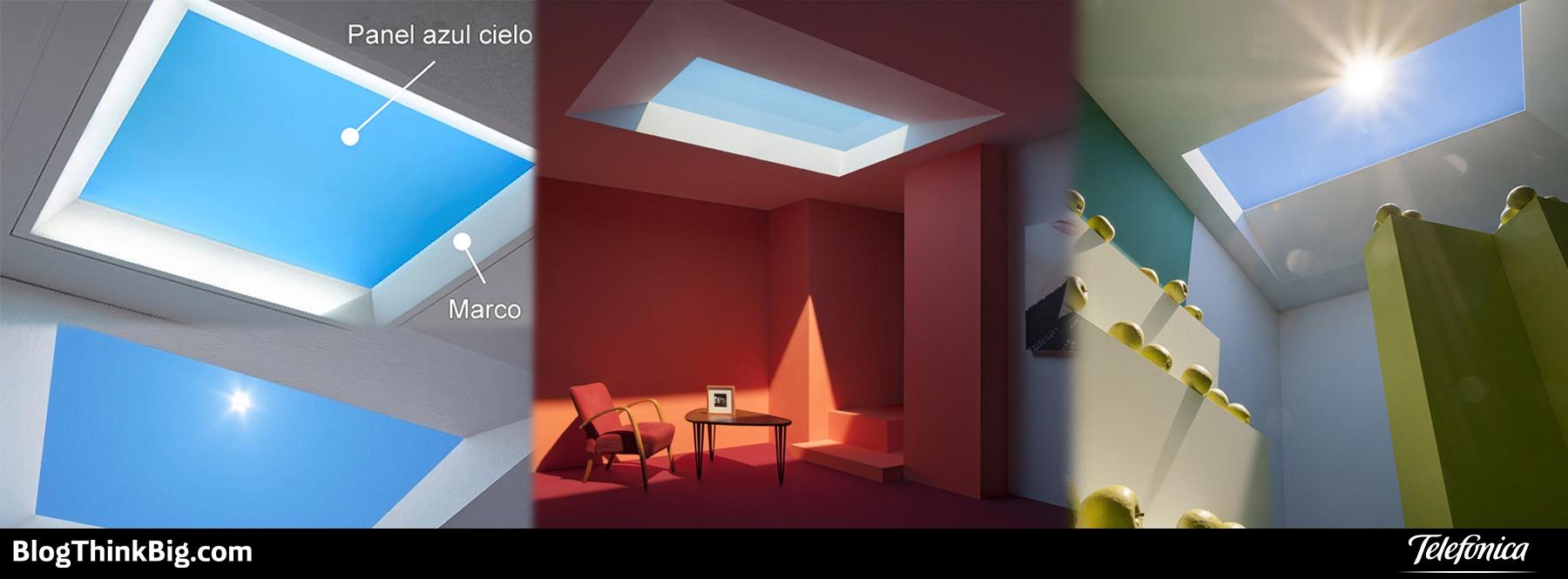 Tragaluces LED que simulan la luz del sol para oficinas