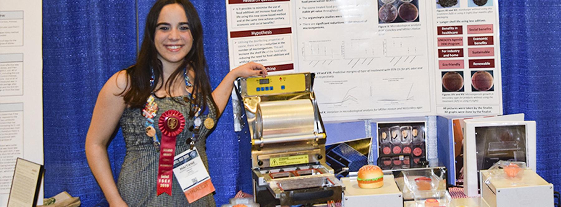 La estudiante española que prolonga la vida de los alimentos con una máquina casera