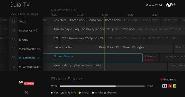 grabar película Movistar+