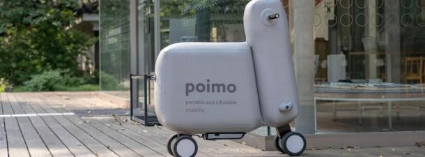 Poimo, la bicicleta eléctrica hinchable que puedes llevar en tu mochila